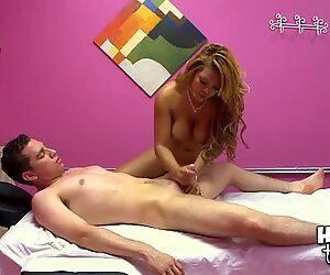 Sexy and ardent fucking takes put in massage room