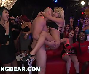 DANCING cub - gigantic Dick Studs Sling Dick In Strip Club During CFNM party