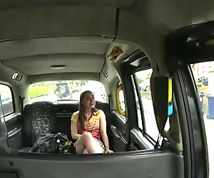 Horny Olga rides a cab and gets fucked