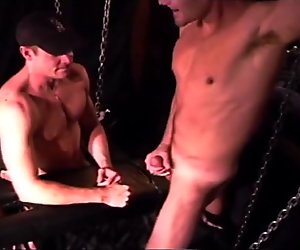 CBT muscle stud punches his bud's balls.