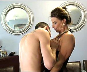 Big-tit MILF gets revenge on her husband & fucks a younger guy