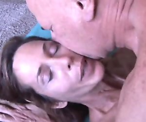 Slim older babe enjoys a hard cock in her tight asshole