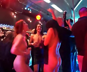 Naked party chicks dancing