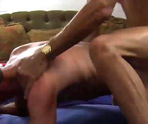 Daddies with big dick have bareback hardcore sex