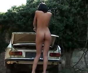 Even a naked chick wont save the car HD