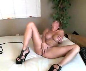 Stunning blonde milf private webcam show - more on allcamsclub.com