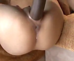 asian girl sucks and fucks a big black cock into interracial sex fun