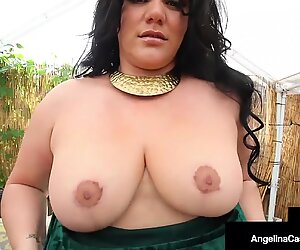 Chubby Cuban Babe Angelina Castro Rubs one off Sucking Cock!