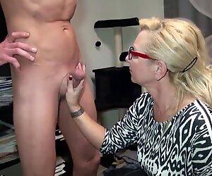 German Mature Seduce Big Dick Personal Trainer to Fuck