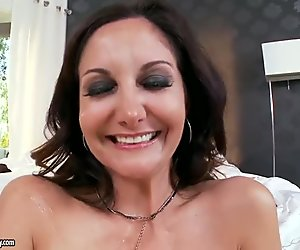 Busty MILF Takes Hard Cock