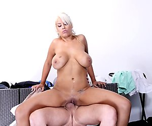 Big ass and big tits Bridgette B riding in reverse