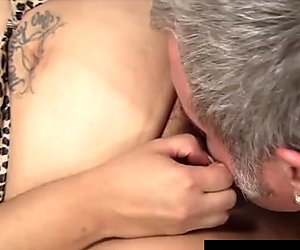 Toosie's fat latina pussy gets probed by an old guy's dick