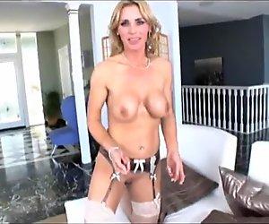 Blonde Feeds Male His Cum