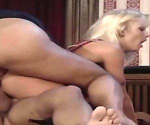 Big Titted German Girl Fucks Two Guys