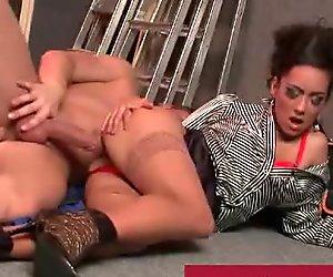 Glamorous babe turns into a nasty slut