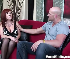 redhead mummy Brittany O'Connell Pierced Pussy In Sexy Stockings screwed