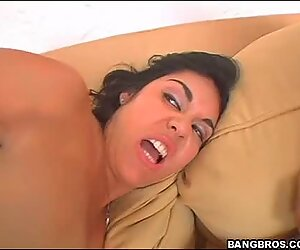 Hot and sexy Nyomi Marcella and Olivia Olovely gets fucked hard and creampied