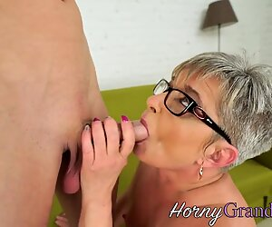 Slutty grandma facialized