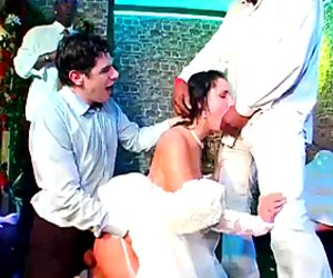 Brides are banged hard at the wedding day