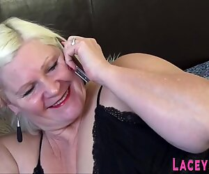 Bound granny gets pussy toyed