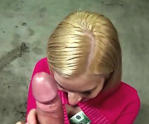 Nasty Eurobabe Ellen flashes tits and banged for m