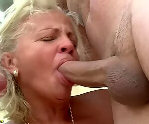 73 years aged grandmothers very first double penetration