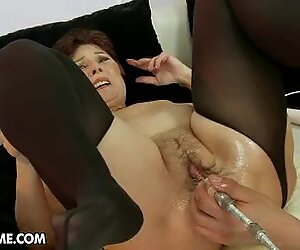 Tempting granny gets her soggy snatch stuffed with cock