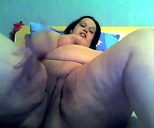 Very Horny Fat BBW Teen spreading her wet squirting pussy