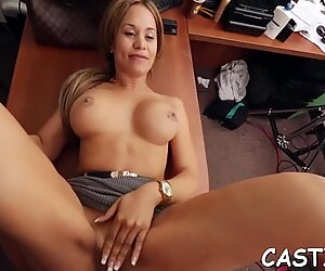 Magnificent latina floozy Samantha Bell gets nailed well