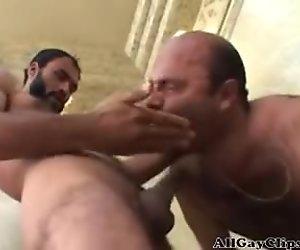 Bear Taking Hard CockK Deep Inside  gay porn gays gay cumshots swallow stud hunk