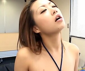 Demure honey receives a wicked group sex thrashing