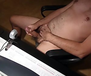 stroking at office