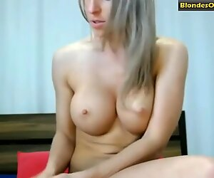 Blonde teases with her ass on a webcam