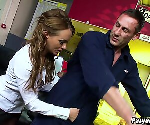 Paige Ashley as a big cock for inspection and penetration