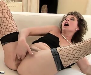 Sexy girl in stockings Judyt fucking