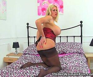 UK milf Shannon Blue shows off her huge tits