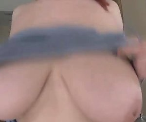 Sexy Redhead has Awesome Huge Tits Banged Hard