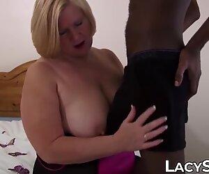 Facialized granny enjoys every inch of big black cock