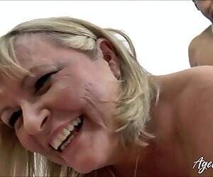 AgedLovE Big Black Cock in British Mature Pussy