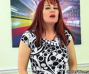 English milf Tanya Cox gets naughty in tights