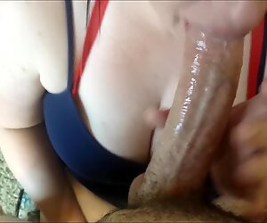 SHE CAN sigh COCK! DEEPTHROAT pov ample DICK CUM ON HUGE TITS!