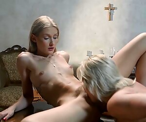 Hot Young Lesbian Nun Teenagers Tiffany Tatum and Zazie Skymm Fingering Licking Eachother