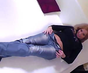 Natural busty blonde babe gets seduced and fucked hard!