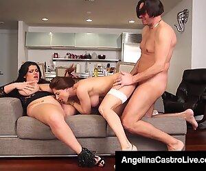 Cuban BBW Angelina Castro Has Threesome With Roberta Gemma!