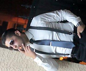 Full Moon Smoking In Noir Suit Looking Sharp Smoking Cigar Handsome Latino