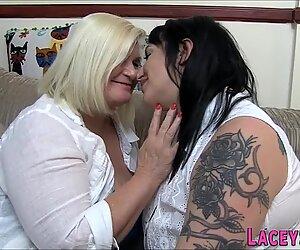 Grandma and chubby tattooed lesbian
