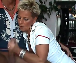 Check My MILF german mature is opaque stockings pussy rub