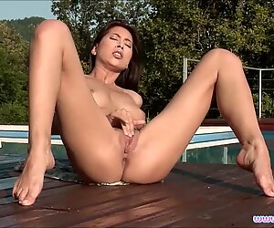 Christy Charming Fingers Her Wet Pussy
