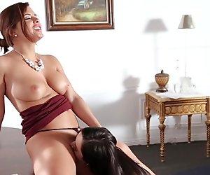 Big asses Keisha and Karlee Grey lesbian fun