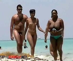 Dva horké pláž Kočky Crotch Shot Velké Kozy Voyeur Video